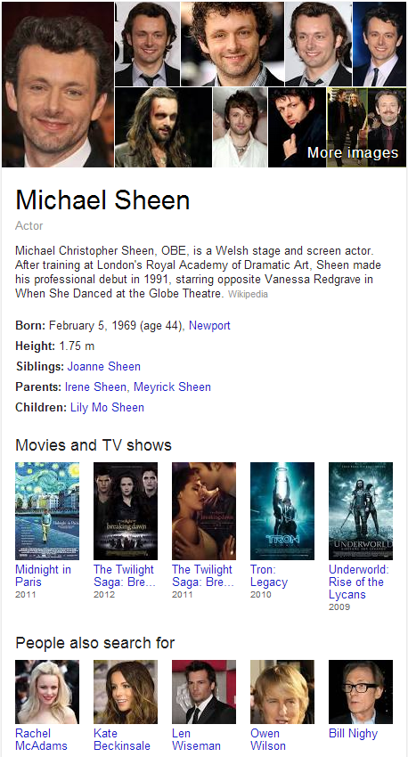 Michael Sheen Knowledge Graph