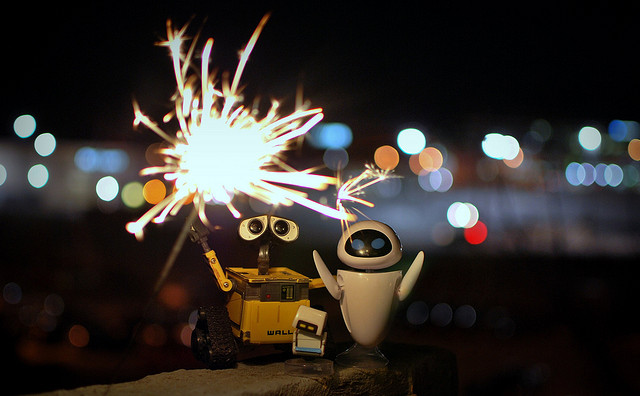 Wall-E Eve and Mo toys