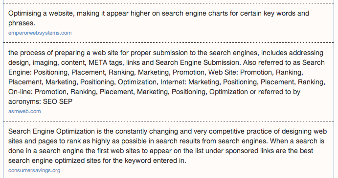 "Metaglossary.com - Definitions for ""search engine optimization"" 2014-08-11 14-57-28"