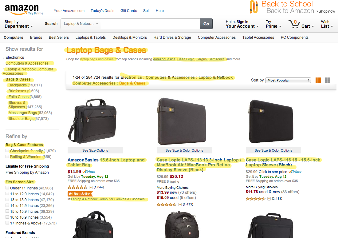 Amazon.com: Bags & Cases: Electronics: Sleeves & Slipcases, Messenger Bags, Shoulder Bags, Backpacks & More 2014-08-11 14-28-16