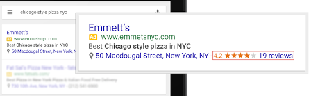 Local Review Stars in AdWords
