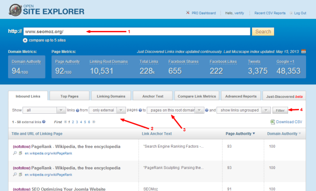 Backlink Checker - Moz