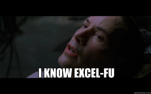Excel - I Know Excel-fu