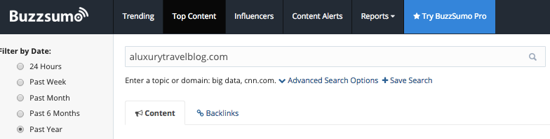 buzzsumo domain search