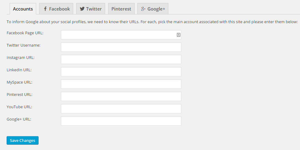 "The ""Accounts"" tab of the Social section"