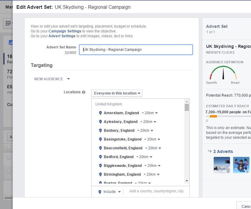 Facebook Target Reach V2
