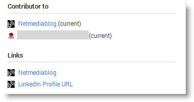 Google+ Contributor To links