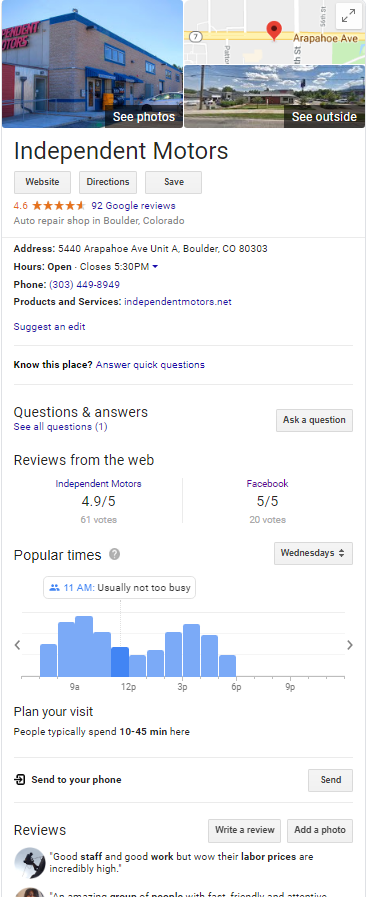 Do Firms Really Use Google My Business Posts? A Case Study 1