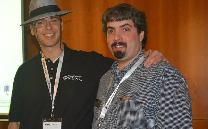 Barry Schwartz and Gab Goldenberg at SMX Israel - photo courtesy of RJStreets.com