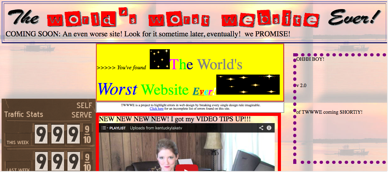 World's worst website