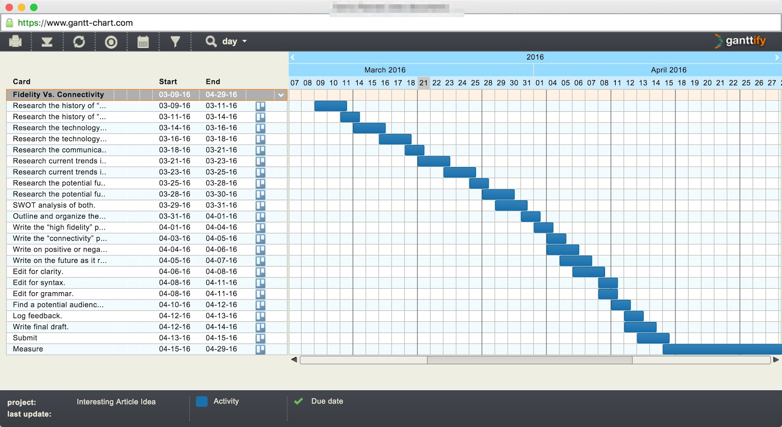 How why to build a basic gantt chart for almost any for How to build a project plan