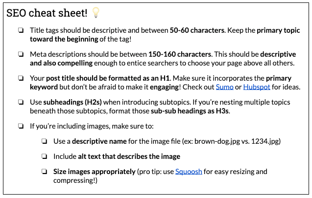 How to Write an SEO-Focused Content Brief Your Writers Will Love 10