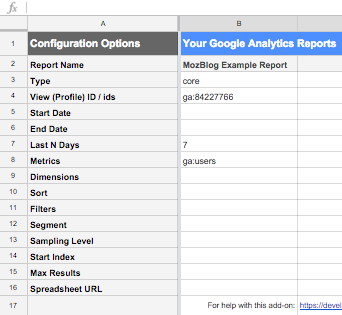The Google Analytics AddOn For Sheets An Intro To An Underutilized - Create google sheet