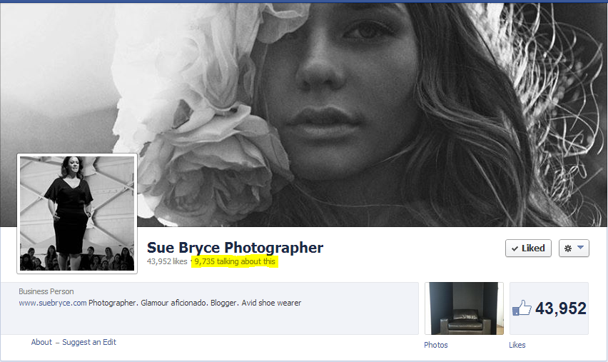 Sue Bryce Facebook Page