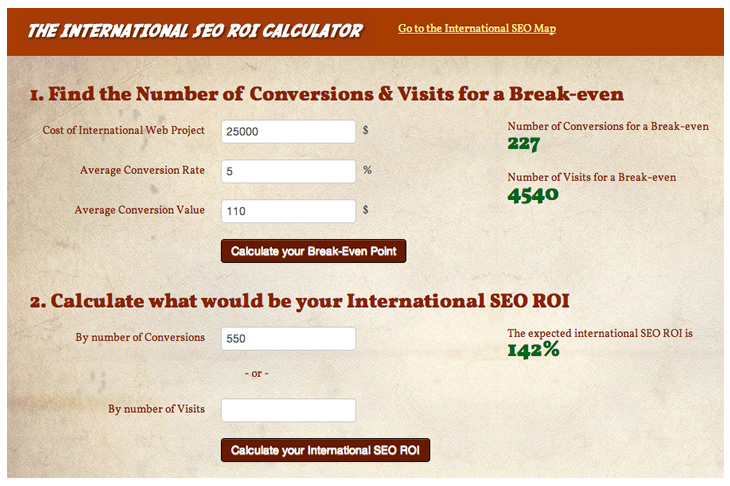 International SEO ROI Calculator