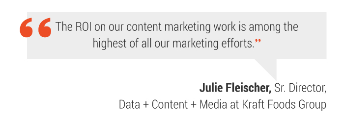 content marketing quote Kraft Foods