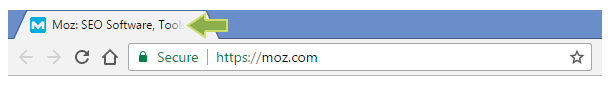Screenshot of a page title in a browser window