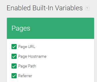 Enabled Built-in variables