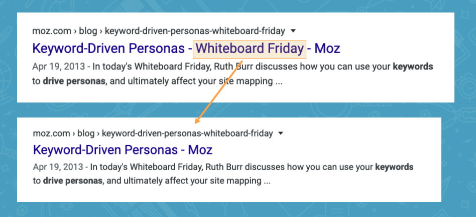 Title Tags SEO: When to Include Your Brand and/or Boilerplate 4