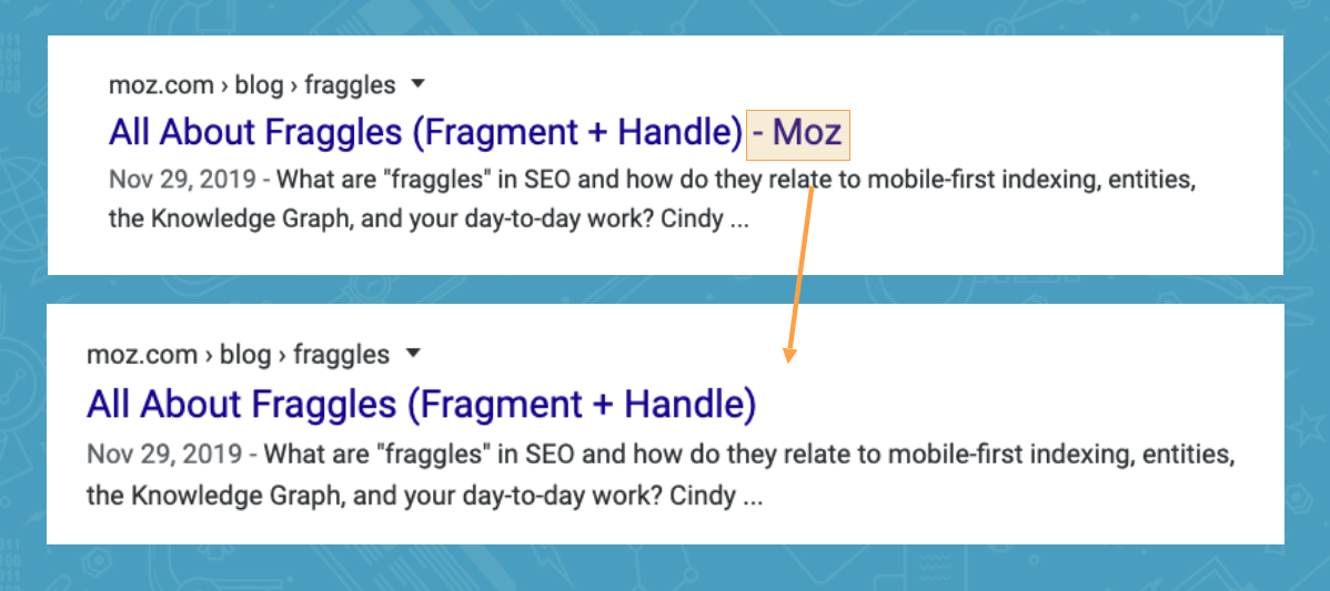 Title Tags SEO: When to Include Your Brand and/or Boilerplate 6