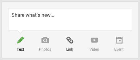 Share what's new on Google+