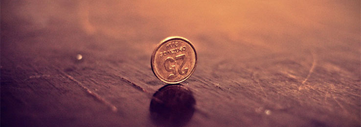 image of a coin on a table