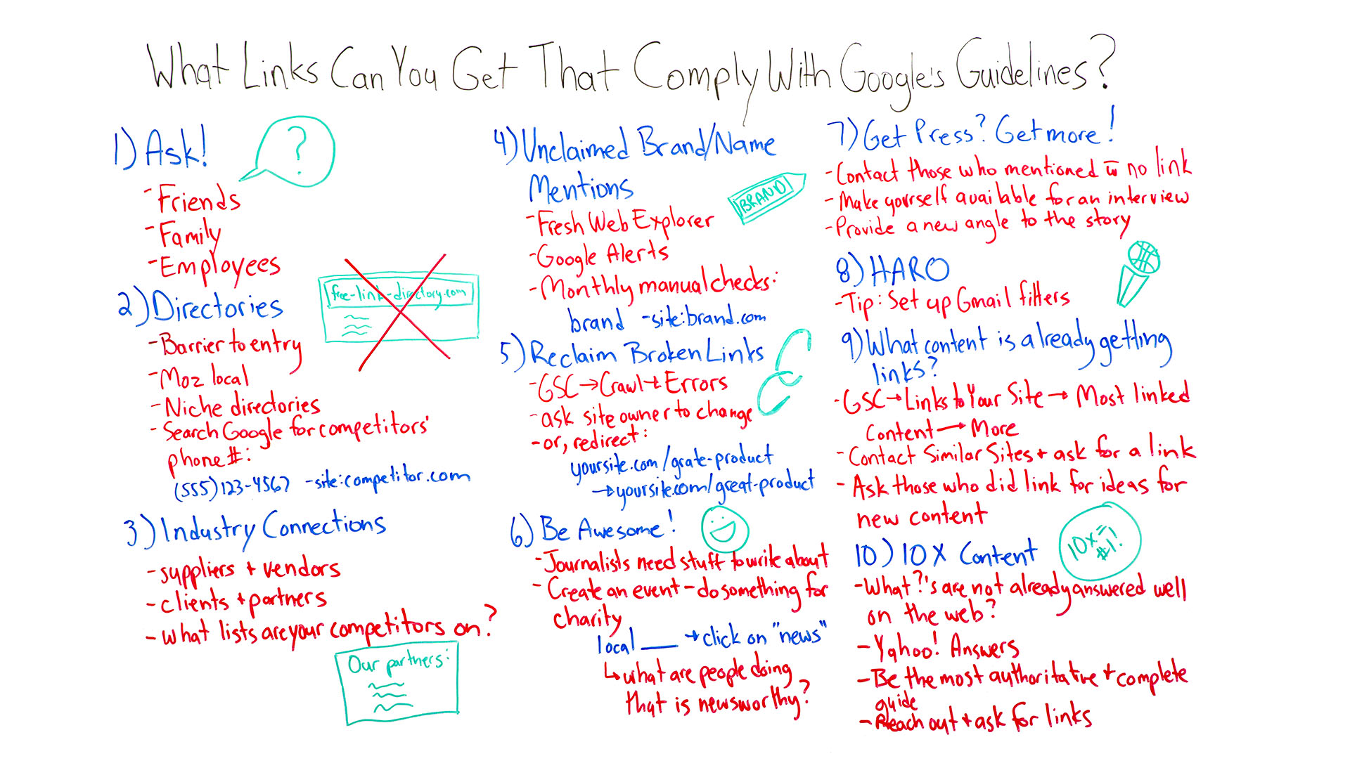 Links that comply with Google